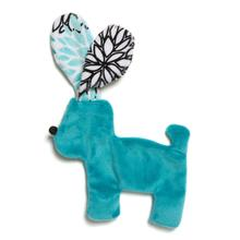 Floppy Dog Stuffing-Free Dog Toy - Teal Bloom