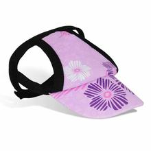 Floral Stamp Dog Visor by Playa Pup - Purple