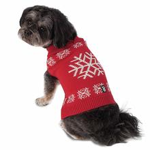 Flurry's Snowflake Dog Sweater - Red