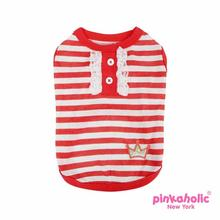 Frances Dog T-Shirt by Pinkaholic - Red