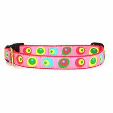 Funky Pink Circles Dog Collar by Up Country