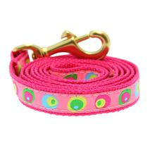 Funky Pink Circles Dog Leash by Up Country