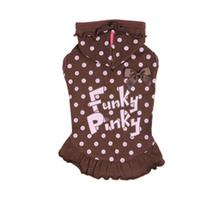 Funky Pinky Dog Hoodie by Pinkaholic - Brown