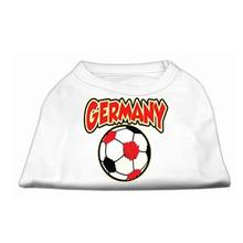 Germany Soccer Print Dog Tank - White