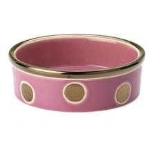 Glitzy Dots Dog Bowl - Raspberry