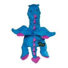 GoDog Flatz Dragon Dog Toy- Blue