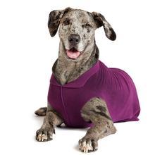 Gold Paw Fleece Dog Jacket - Eggplant