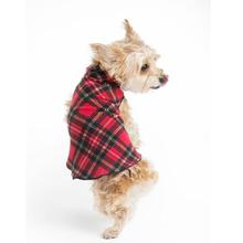 Gold Paw Fleece Dog Jacket - Red Plaid