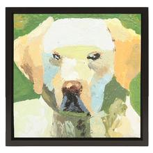 Golden Lab Oil Painting