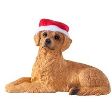 Golden Retriever Lying Down Christmas Ornament