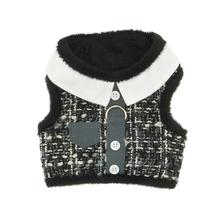 Gray Tweed Winter Dog Harness