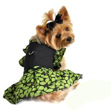 Green Leaf Harness Dog Dress
