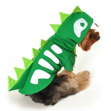 Green Skeleton Dinosaur Dog Costume by Anit