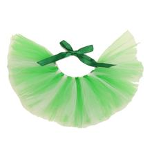 Green and White Tulle Dog Tutu by Pawpatu