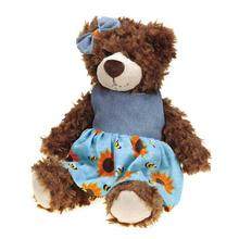 Grriggles Flutterbugs Bear Dog Toy - Girl