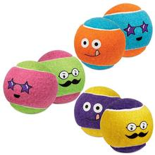 Grriggles Funny Faces Tennis Ball Doy Toy