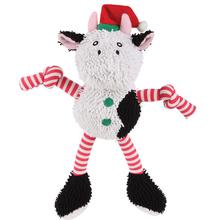Grriggles Gift Grabber Holiday Dog Toy - Cow