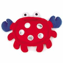 Grriggles Patriotic Pooch Crab Dog Toy - Red