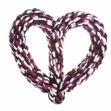 Grriggles Rope Hearts Dog Toy - Purple