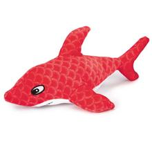 Grriggles Sizzle Shark Dog Toy - Red