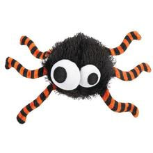Grriggles Spooky Time Spider Dog Toy - Black