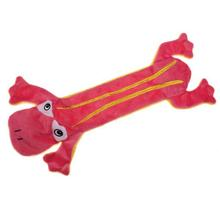 Grriggles Unstuffy Frog Dog Toy - Pink