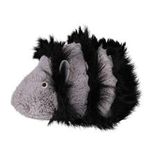 Grriggles Wild Savannah Furry Dog Toy - Gray