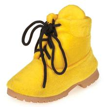 Grriggles Workin' Boots Dog Toy - Yellow