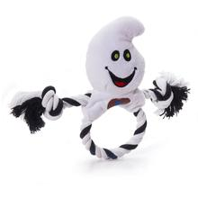 Halloween Ring Toss Dog Toy - Ghost