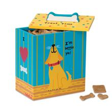 Hand Painted Dog Treat Box - Yellow
