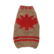 Handmade Maple Leaf Wool Dog Sweater