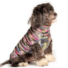 Handmade Woodstock Wool Dog Sweater - Purple