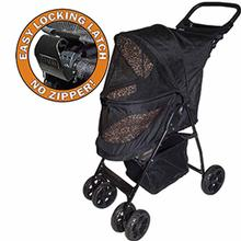 Happy Trails Lite No-Zip Pet Stroller - Jaguar
