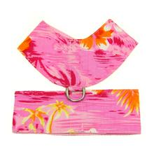 Hawaiian Print Dog Harness - Pink