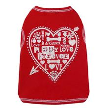 Heart Love Collage Dog Tank - Red