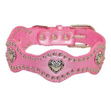 Heart Wave Dog Collar - Pink