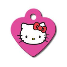 Hello Kitty Heart Small Engravable Pet I.D. Tag - Pink