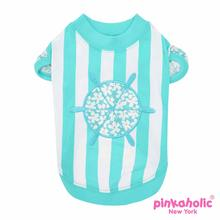 Helm Dog Shirt by Pinkaholic - Aqua