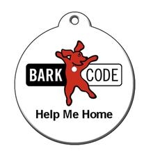 Help Me Home QR Code Pet ID Tag by BarkCode - Company Logo