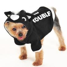 Here Comes Trouble Skunk Dog Sweatshirt by Dogo - Black