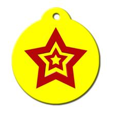 Hero Tag Yellow Star QR Code Pet ID Tag by BarkCode