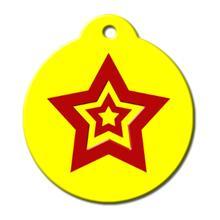 Hero Tag Yellow Star QR Code Pet ID Tag by BarkCode