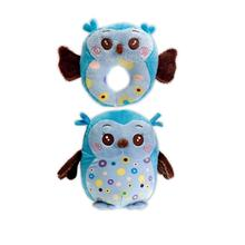 Hocus and Pocus Two Furrs Dog Toy - Blue Owls