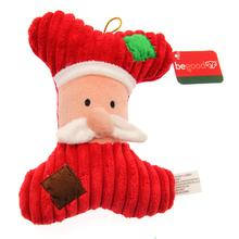 Holiday Bone Dog Toy - Santa