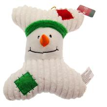 Holiday Bone Dog Toy - Snowman