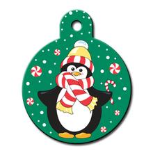 Holiday Penguin Engraveable Pet I.D. Tag