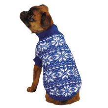 Holiday Snowflake Dog Sweater - Blue