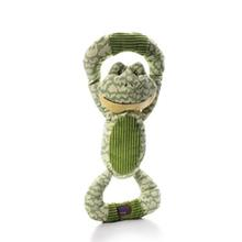 Huggable Tuggables Dog Toy - Green Frog