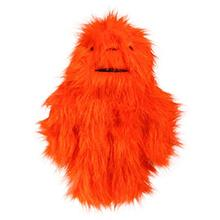 Hugglehounds Big Foot with Sole Dog Toy - Bright Orange