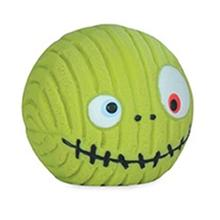 HuggleHounds Ruff-Tex Zombie Head Dog Toy - Green